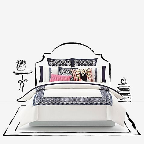 Kate Spade New York Folk Art Duvet Cover Sham And Throw Pillows Crafted From Cotton For Optimal Comfort And Luxury Bedding Sets Fine Bedding Comforter Sets