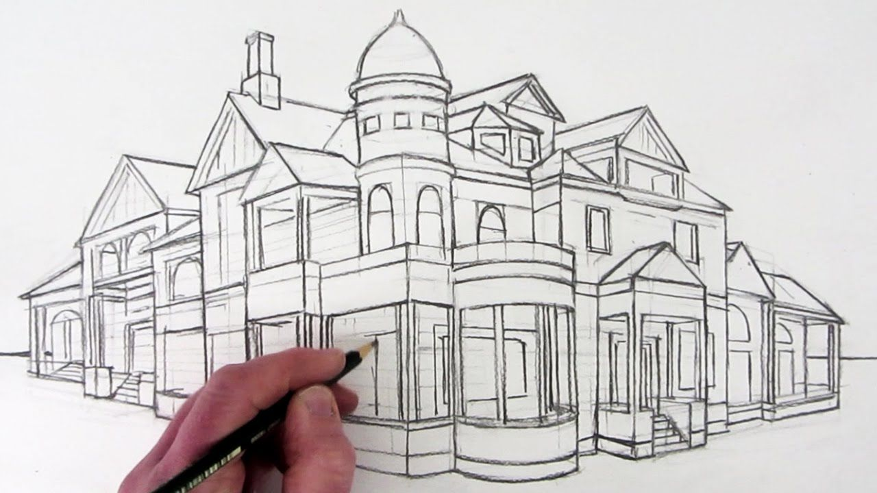 How To Draw A House In Twopoint Perspective: Narrated