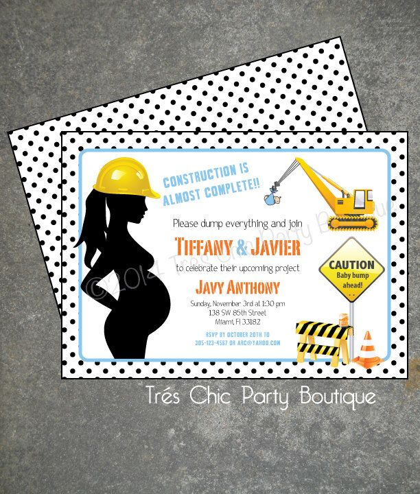 under construction baby shower invitation by treschicparty on etsy, Baby shower invitation