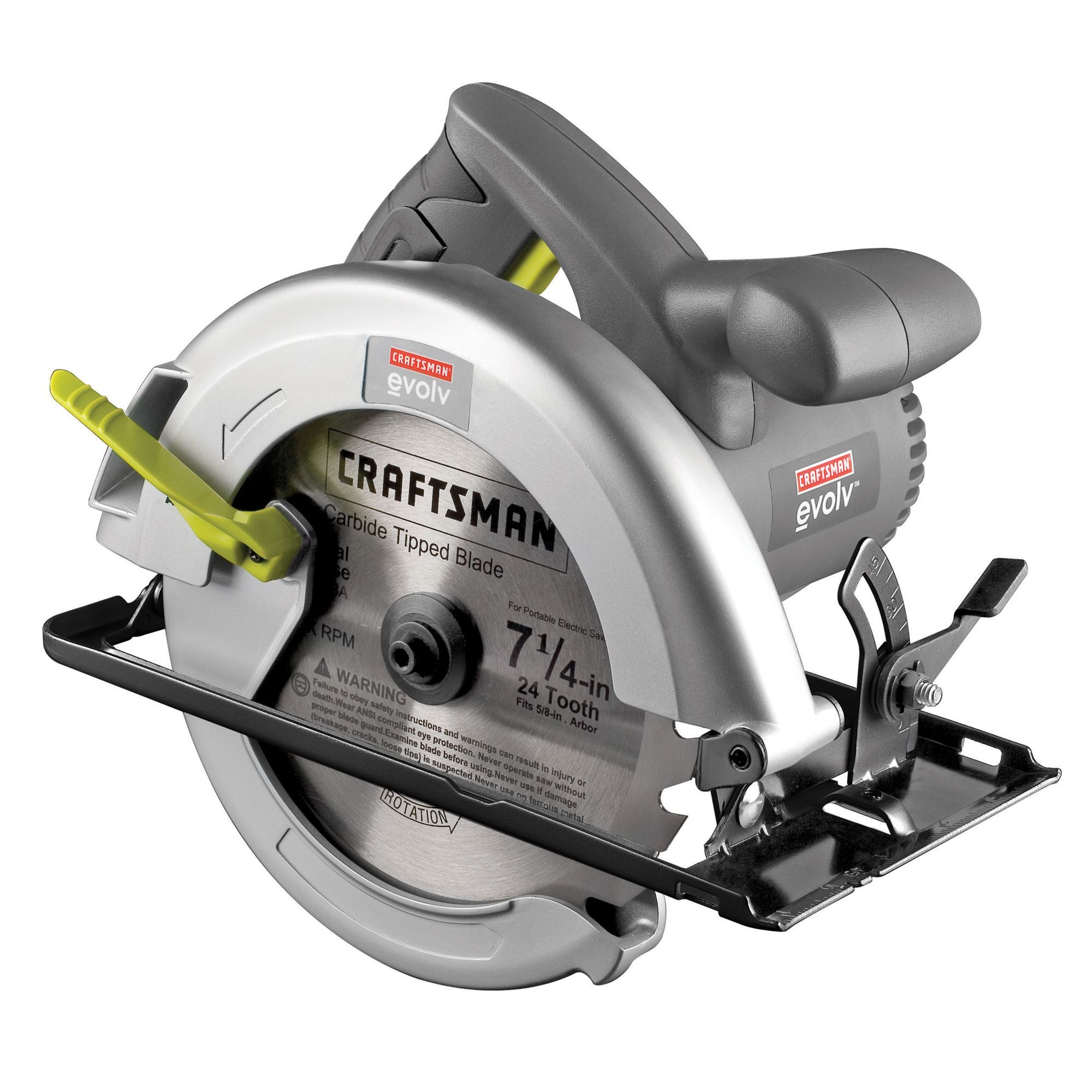 Craftsman 18780 Evolv 12 Amp Corded 7 1 4 In Circular Saw Circular Saw Craftsman Circular