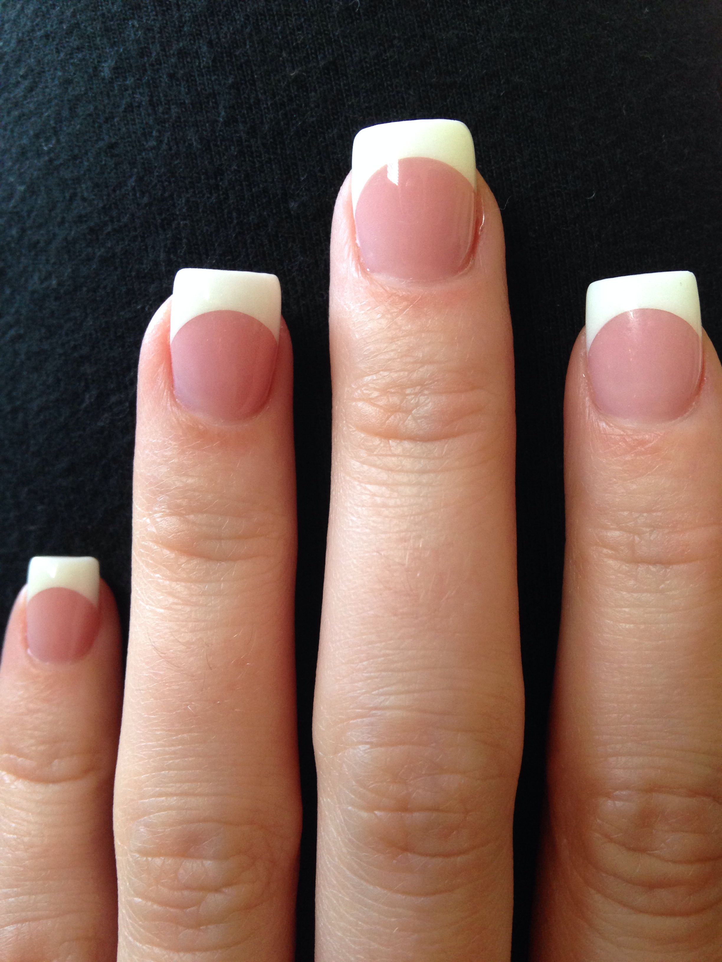 pink and white acrylic nails love in 2019 square