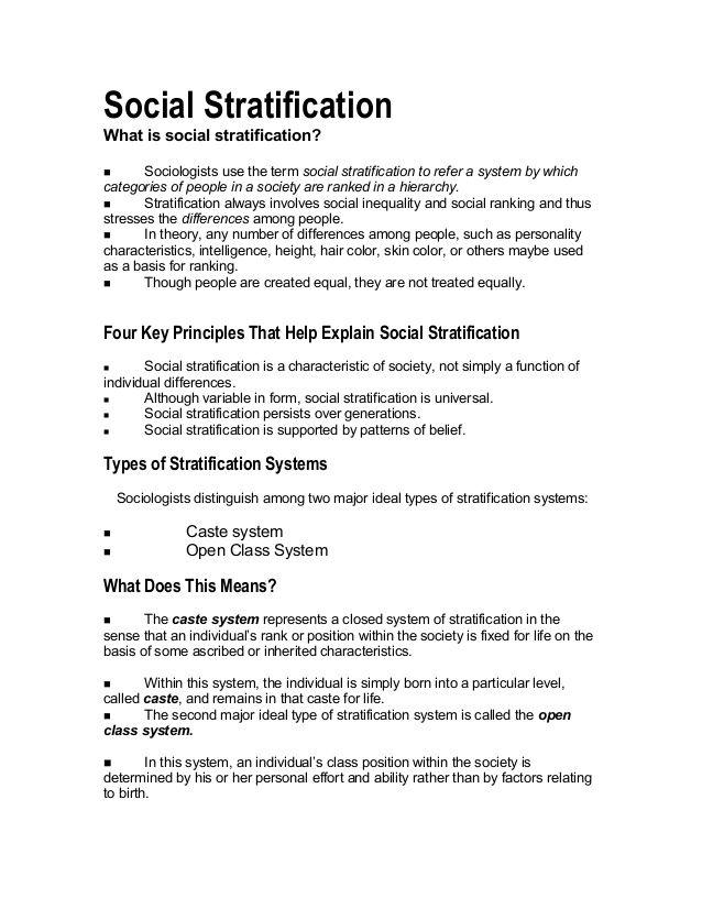 characteristics of caste system