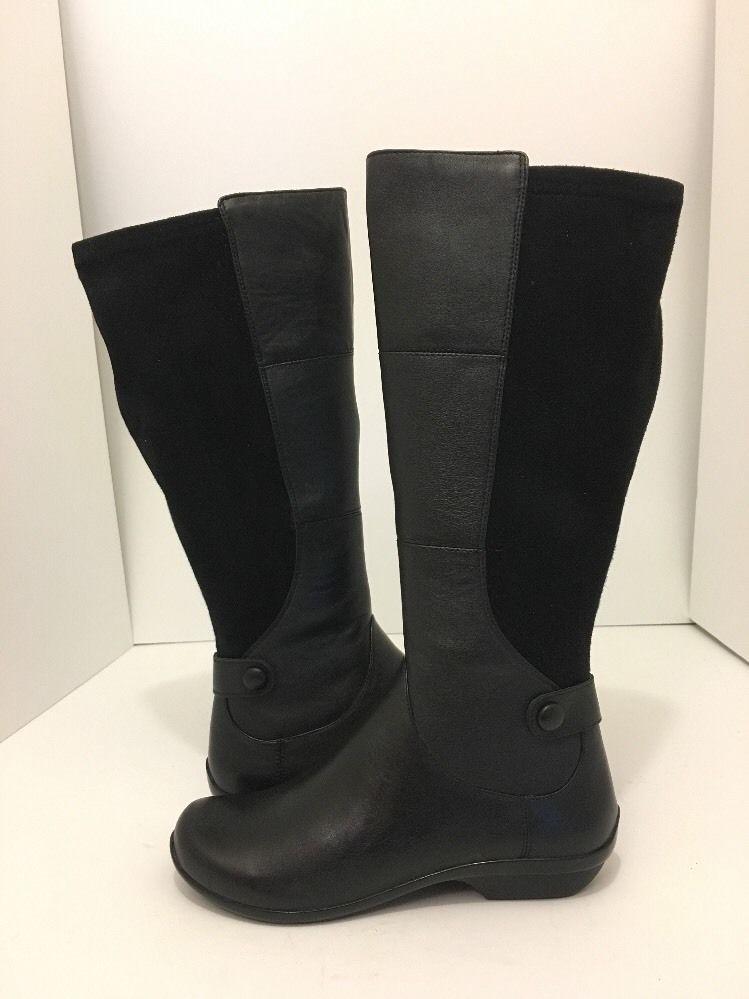 b4bba820e139 Dansko Odette Wide Calf Black Nappa Leather Women s Knee High Boots 38   7  - 7.5  Dansko  KneeHighBootsLowHeel  Casual