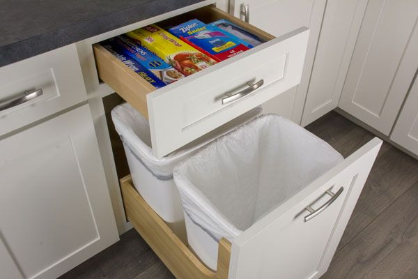 wastebasket cabinet pull out storage for trash recycling waste basket storage and on kitchen organization recycling id=72031