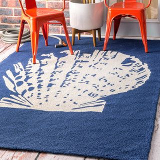 Shop for nuLOOM Handmade Indoor/ Outdoor Seashell Blue Rug. Get free shipping at…