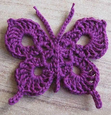 Mariposa | Pulseras y brazaletes | Pinterest | Schmetterling häkeln ...