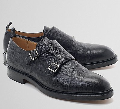 3943dad34042fb pebble grain double monk straps by thom browne for black fleece ...