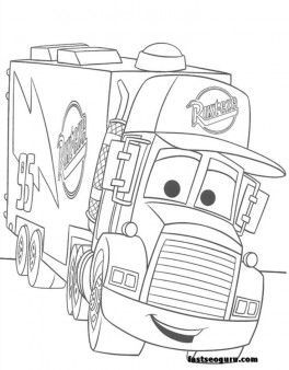 Free For Kids Mack Car 2 Coloring Pages Disney