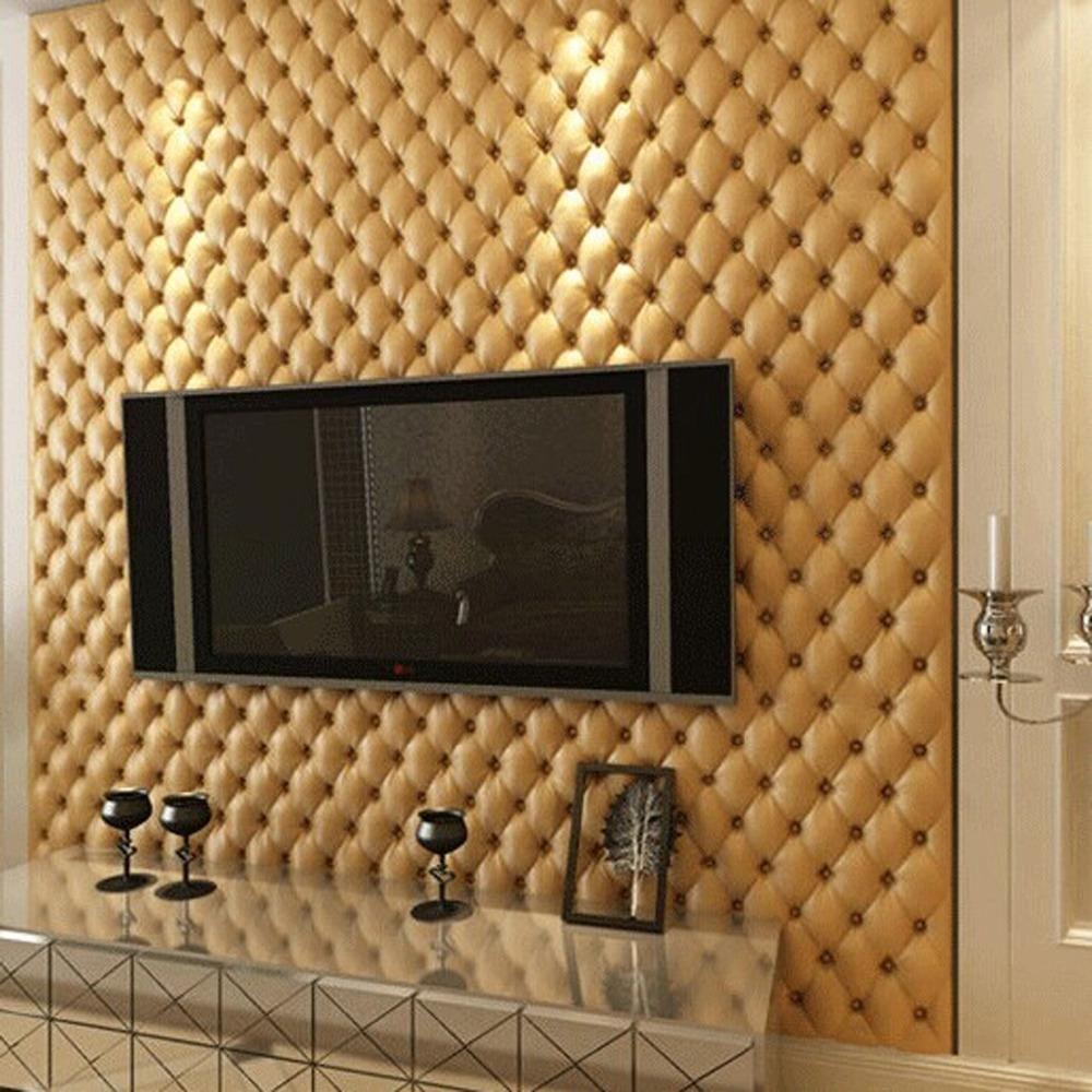 Aliexpress Com Compre Grande Parede 3d Imita O De Couro Veia 10 M  -> Mural Parede Sala