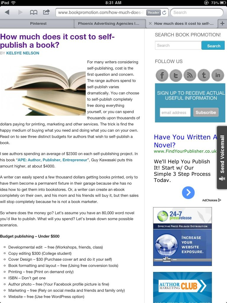 How much does it cost to publish a book httpbookpromotion how much does it cost to publish a book http solutioingenieria Images
