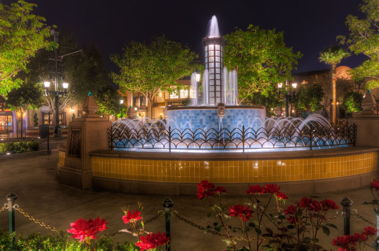 A serene evening outside the Carthay Circle (2012) #disney #imagineering