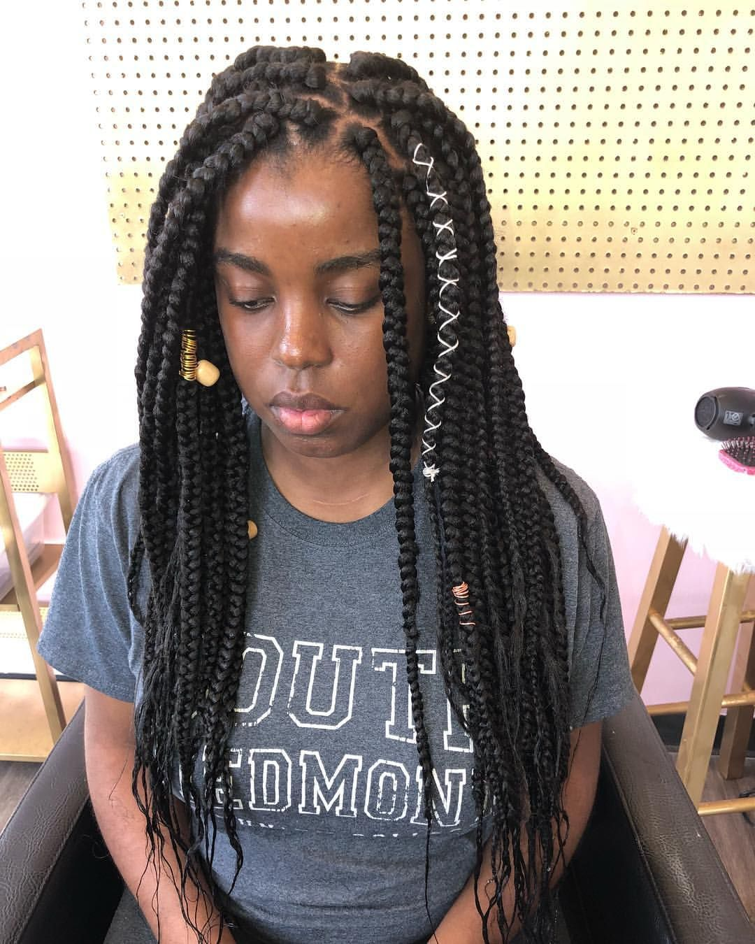 Image Result For Boho Braids Black Hair Boho Braids Hair Black Hair