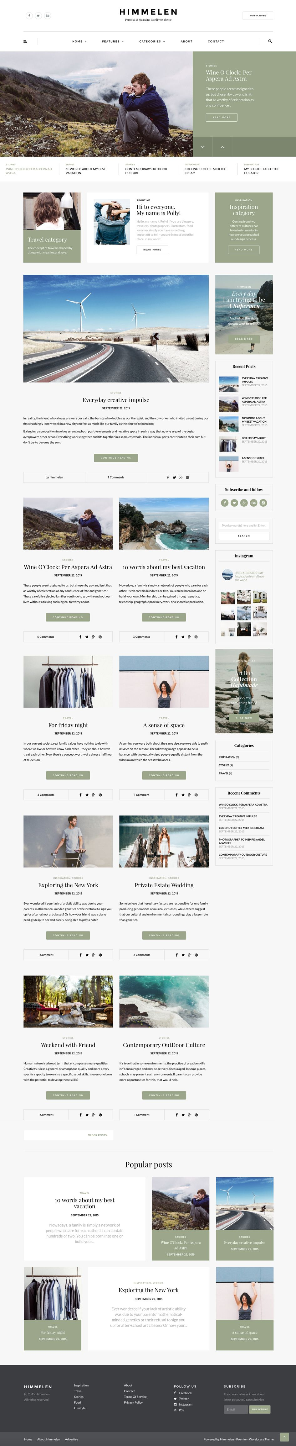 Himmelen main page small user interface design ideas pinterest