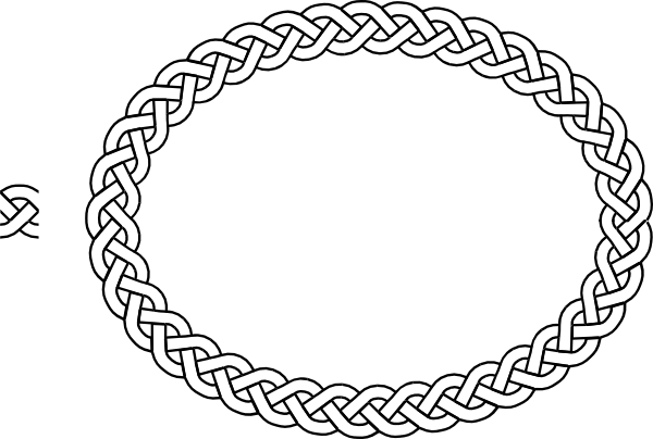 Clip art borders plait border oval vector