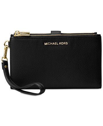 MICHAEL Michael Kors Adele Double Zip iPhone 7 Plus Wristlet