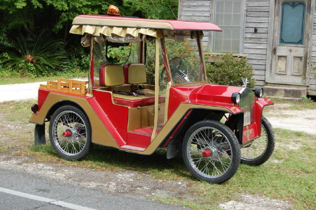 Golf Cart Model T Ford Trolley Car Mixed In With Motorcycle