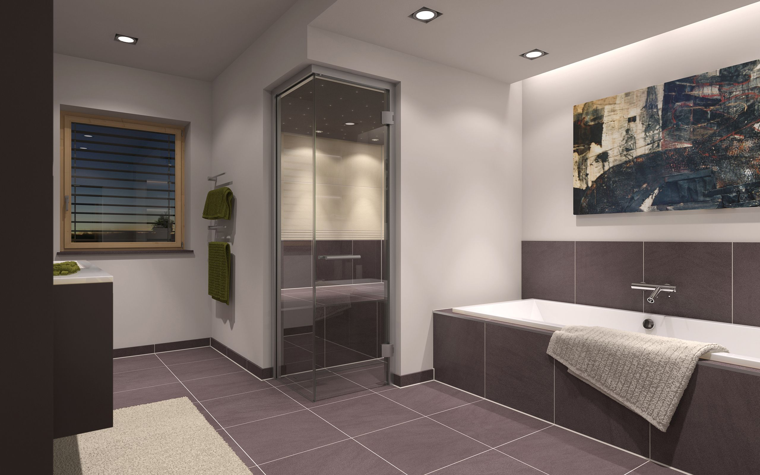 Ideen Fur Badezimmer Mit Sauna Kreative Wandgestaltung Badezimmer