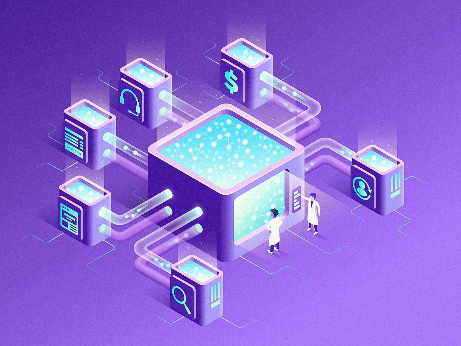 Data Clearinghouse   Isometric design, Isometric illustration, Isometric
