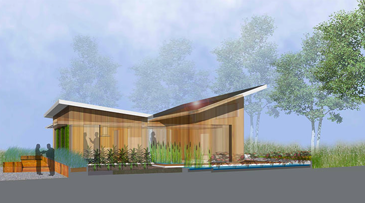 Superb Chesapeake Bay Ecosystem, Butterfly Roof, Solar Decathlon 2011, University  Of Maryland, WaterShed Awesome Design