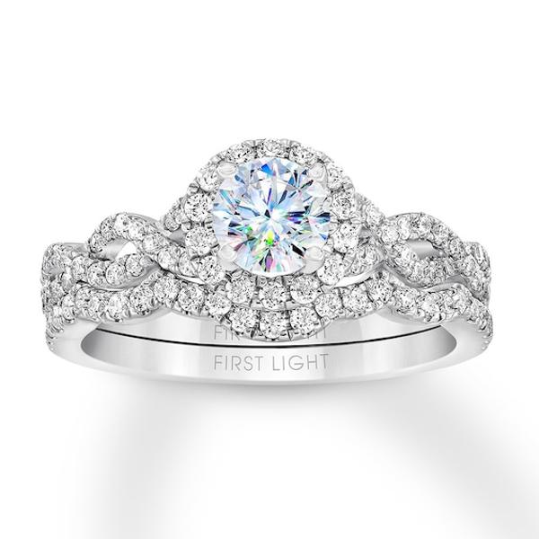 First Light Diamond Bridal Set 1 Ct Tw 14k White Gold Bridesmaid