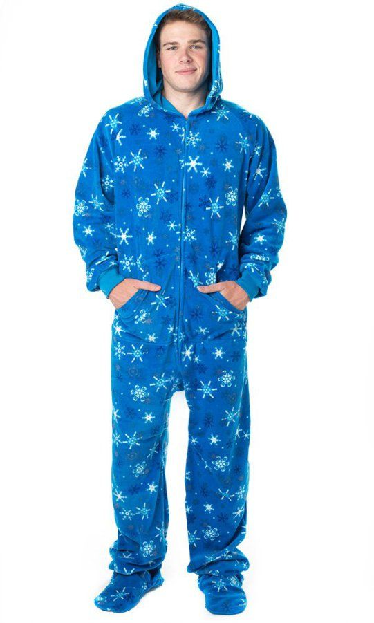 Footed Pajamas Its A Snow Day Adult Hoodie One Piece  124e3a5da