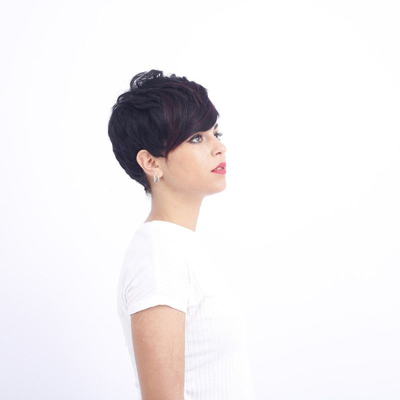 fb104781819 Womens Fashion New Black Short Straight Neat Full Wig Hair Cosplay
