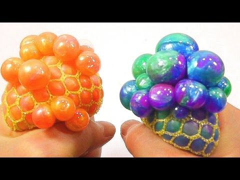 DIY How To Make  Colors Squishy Stress Balloons Slime Ball  Real Syringe Play Learn Colors Slime ...