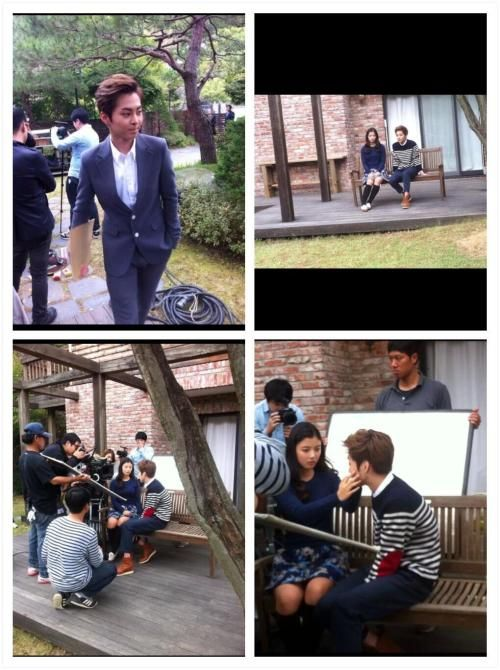 EXO's Xiumin and Actress Kim Yoo Jung Seen Filming a Music Video Together - Soompi