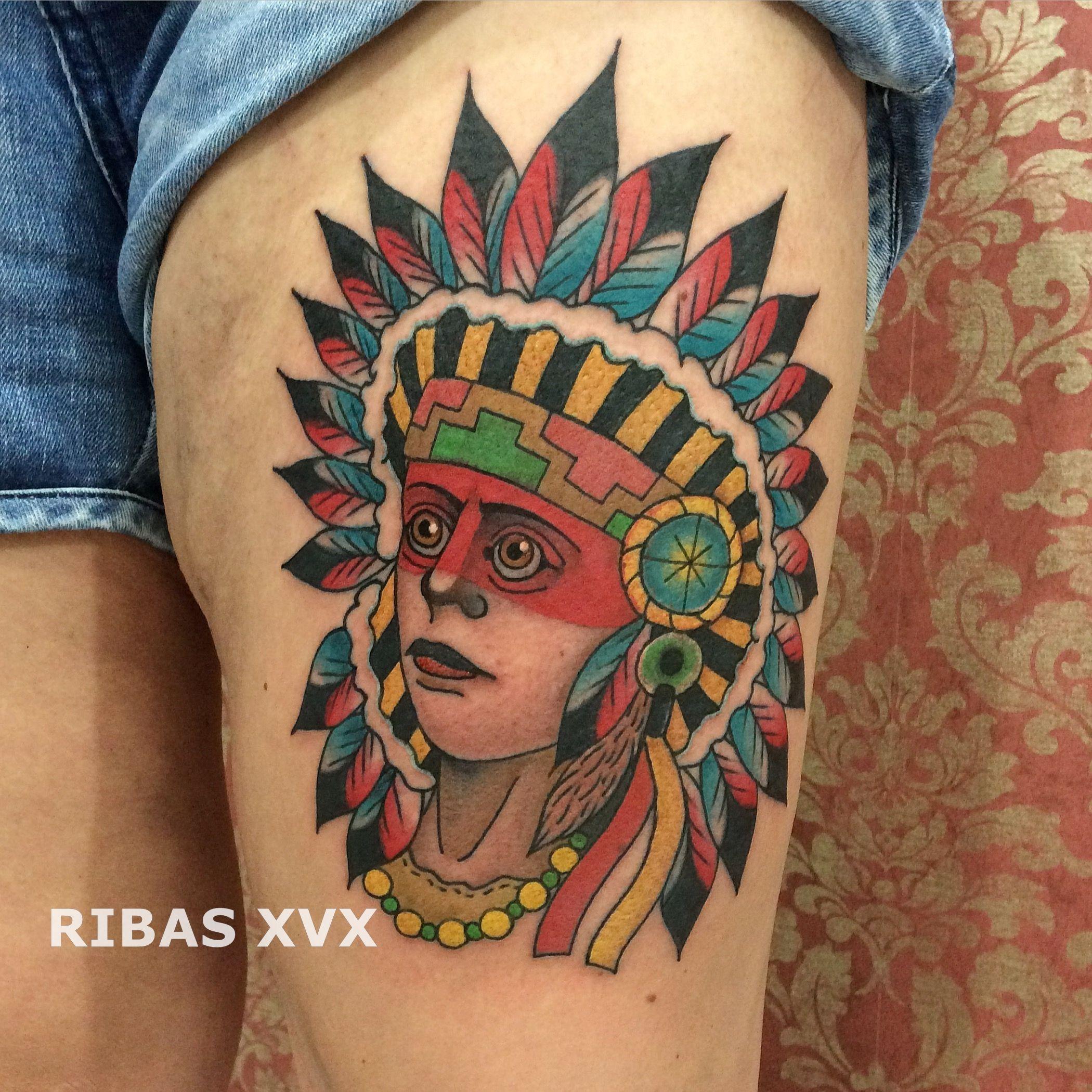 tatuagem indígena native american traditional tattoo ribas xvx