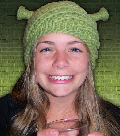 Free knitting pattern for Shrek Hat – Ogre My Ogre Hat byGunilla Leavitt is  a fast knit in bulky yarn 23715f997a1
