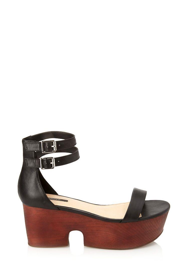 147478b94619 Wooden Flatform Sandals