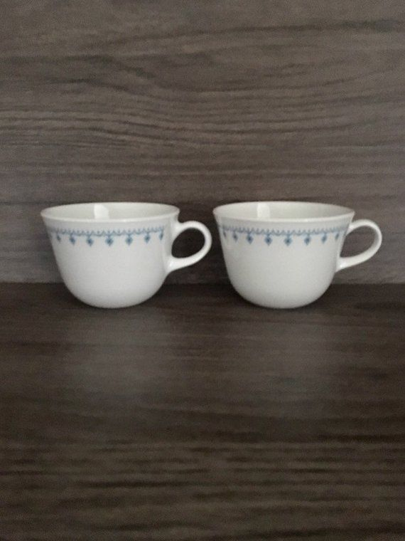 vintage set of 2 corelle snowflake garland coffee cups products rh pinterest com