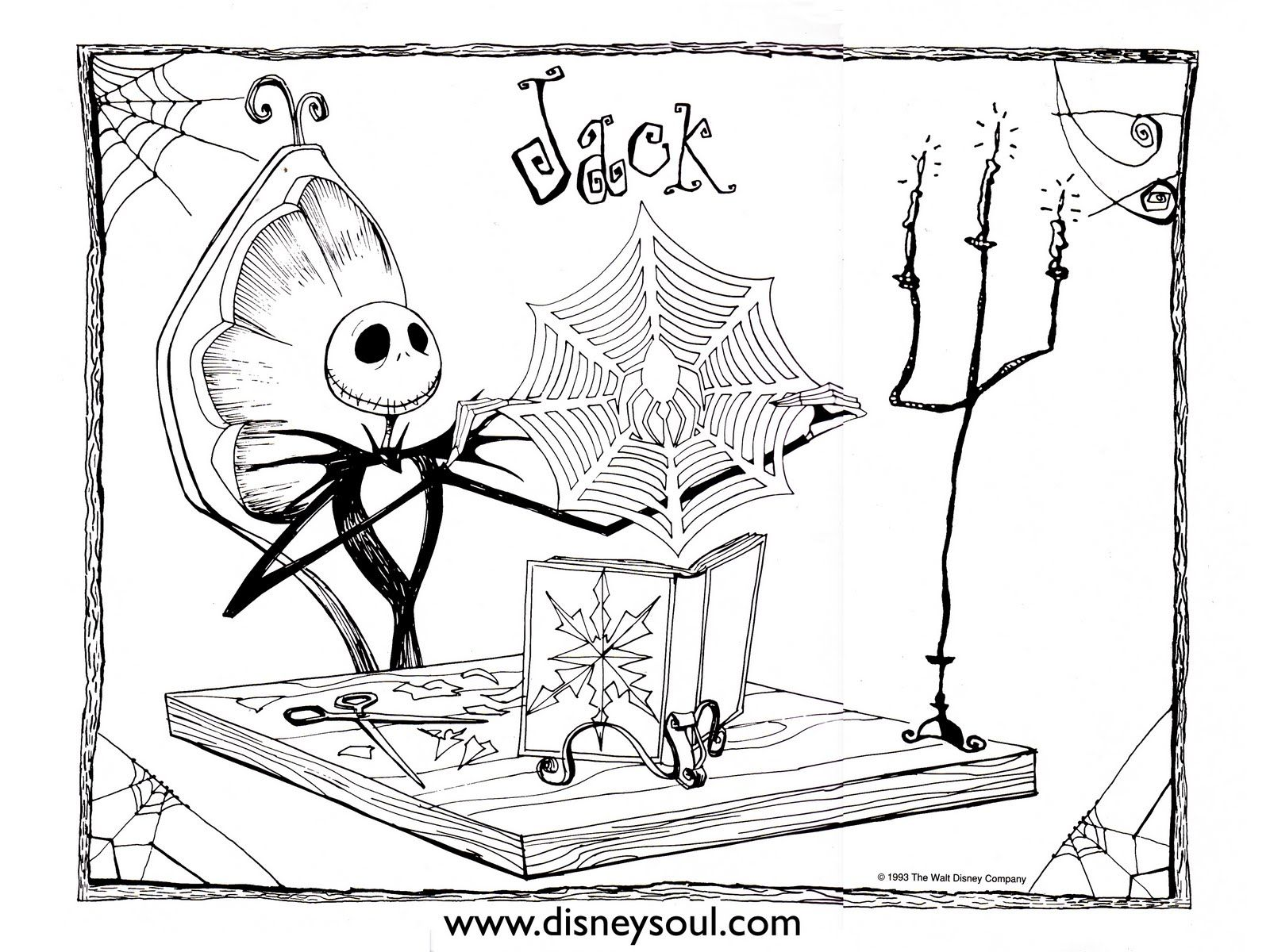 nightmare before christmas coloring pages for kids - Nightmare Before Christmas Coloring Pages