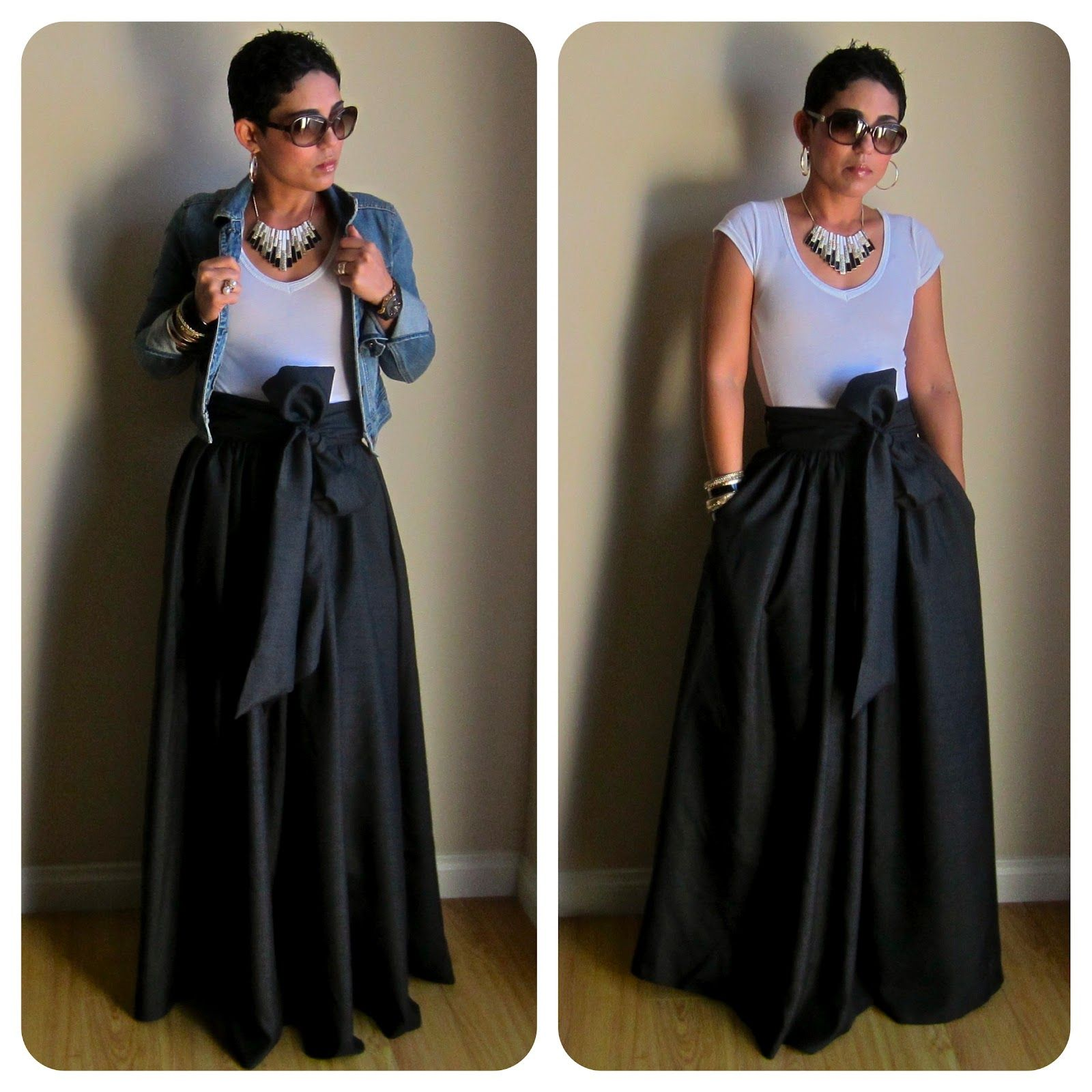 Fashion lifestyle and diy diy maxi skirtagain ropa diy