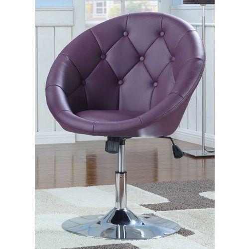 Purple Vanity Stool Swivel Chair Seat Bedroom Furniture