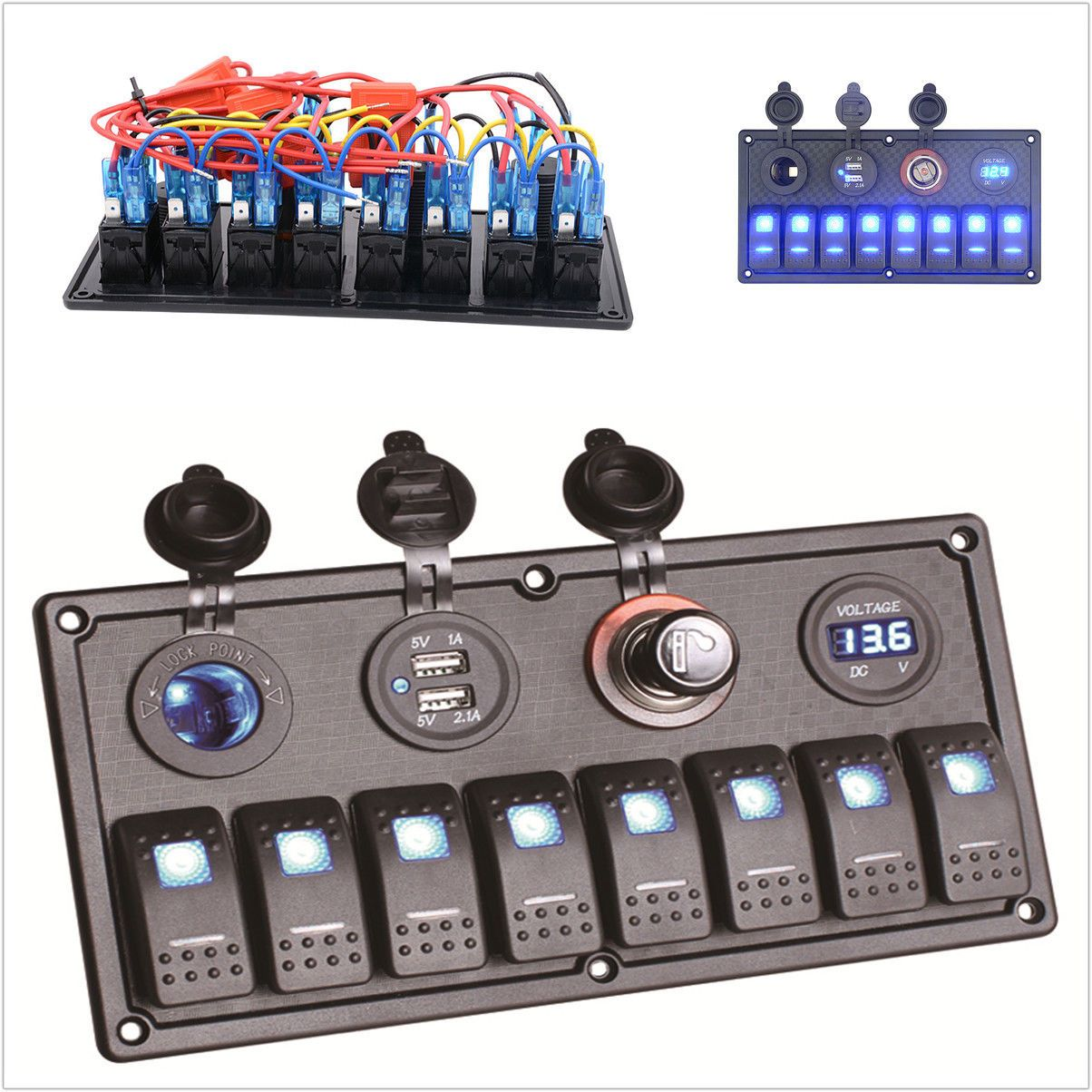 Seachoice Marine 30a Type Iii Manual Reset Circuit Breaker 12v 24v Boat Led Rocker Switch Panel 4 Switches Ebay 30 Amp 13061 Electrical And Lighting Products Pinterest