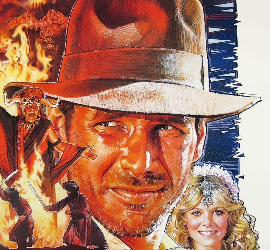 Indiana Jones and the Temple of Doom / one sheet / style B / USA