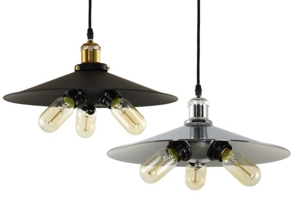 Loft Pendant Light 3 Bulbs Industrial Pendant Lighting Vintage
