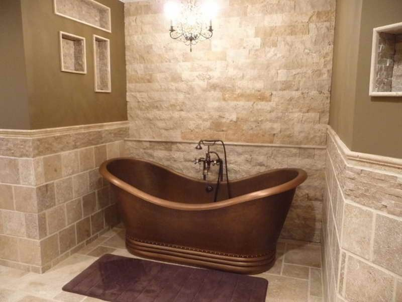 installing natural stone tile like marble slate or granite in your bathroom seems very interesting