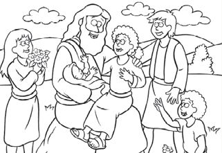 coloring page, lds, jesus, blessing, children - Pesquisa Google ...