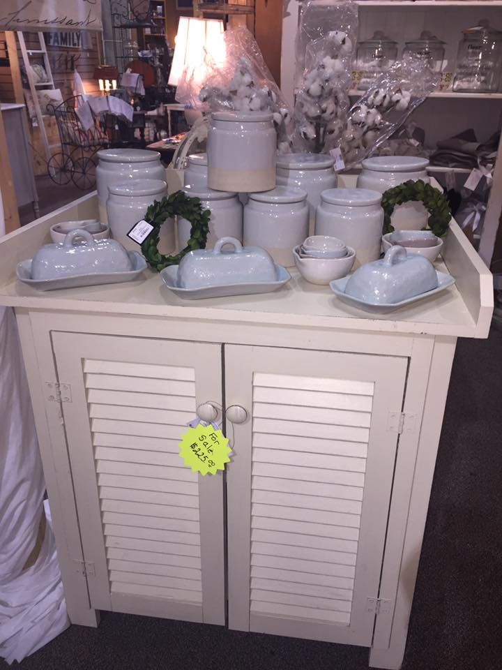 Kimbellishments- Cottage style cabinet with shutter doors ...