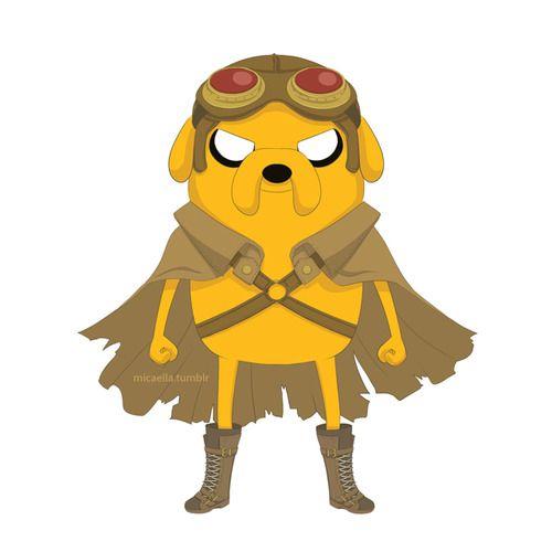 Jake Adventure Time in Renaissance/Steampunk