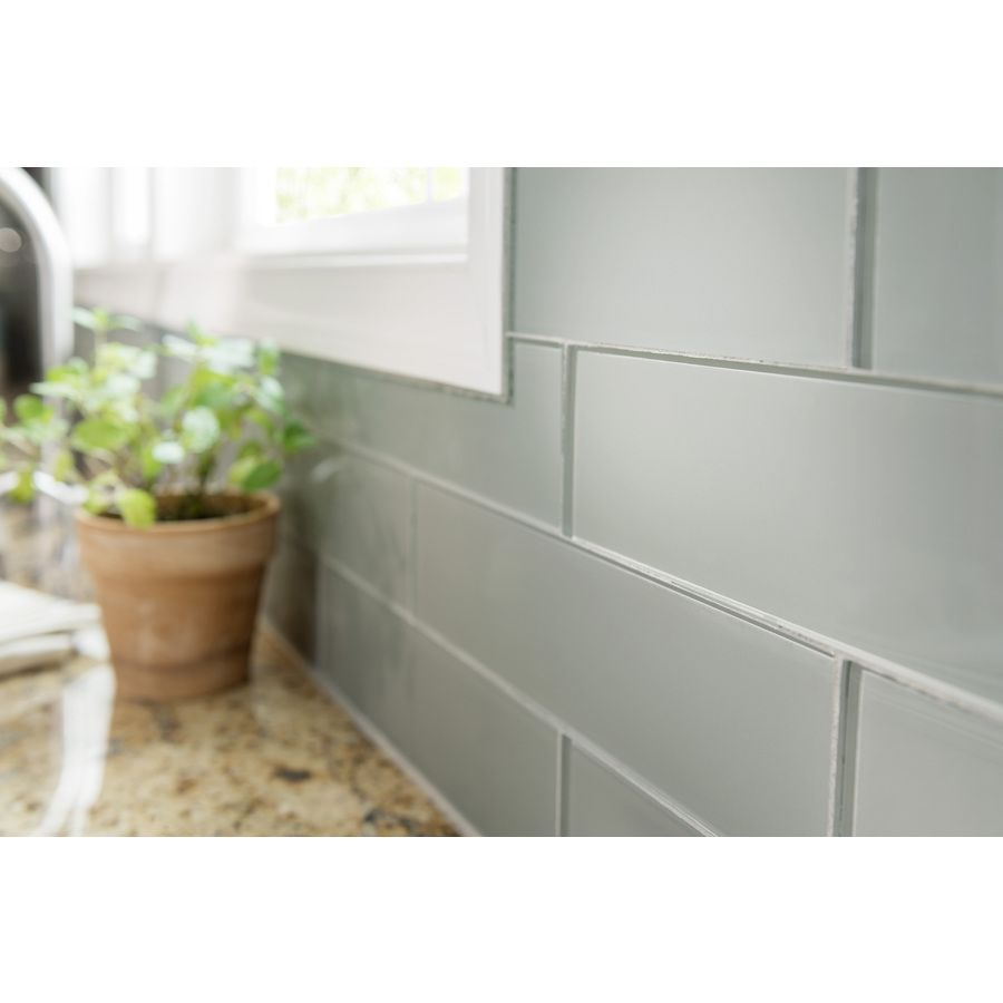 - Shop Allen + Roth Smoke Glass Wall Tile (Common: 3-in X 12-in
