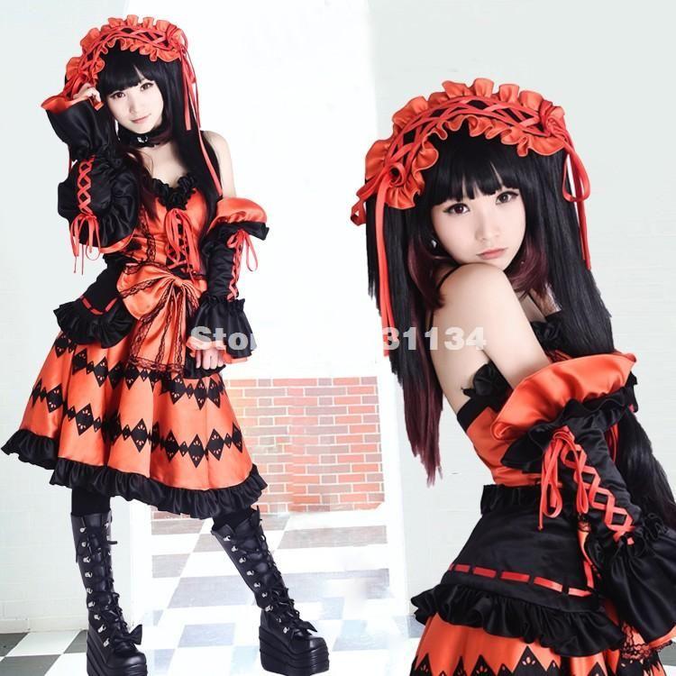 High Quality Satins Date A Live Tokisaki Kurumi Cosplay Dress Costumes Can  Be Custom Made Anime Sailor Costume Anime Witch Costume From Salelolita, ...