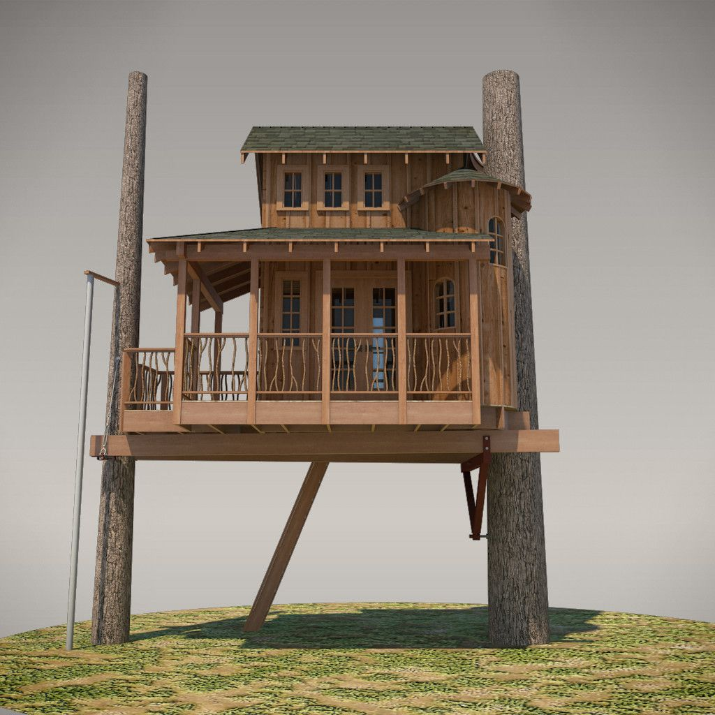 Tree House Plans, Building A Treehouse, Building