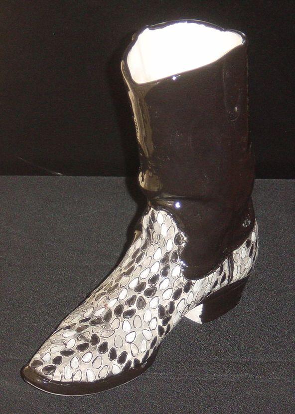 Snake Skin Cowboy Boot Ceramic Cowboy Boot Vase Pinterest