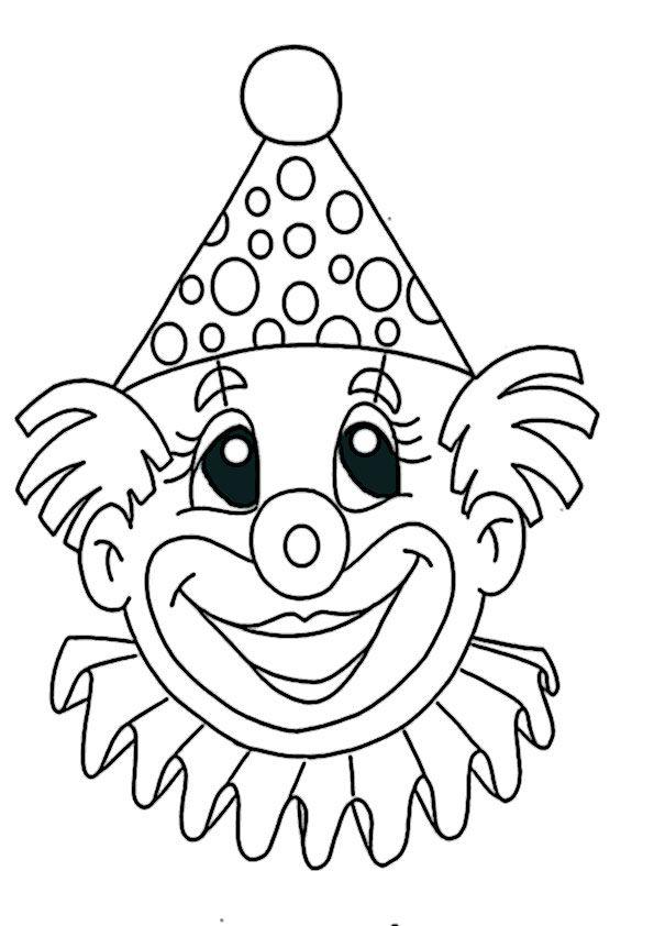 ausmalbilder clown 2   Vorlagen Brandmalerei   Fasching ...