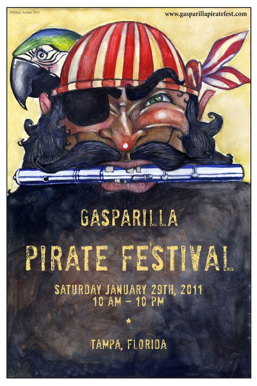 Gasparilla Pirate Festival Poster Pirate Booty Florida