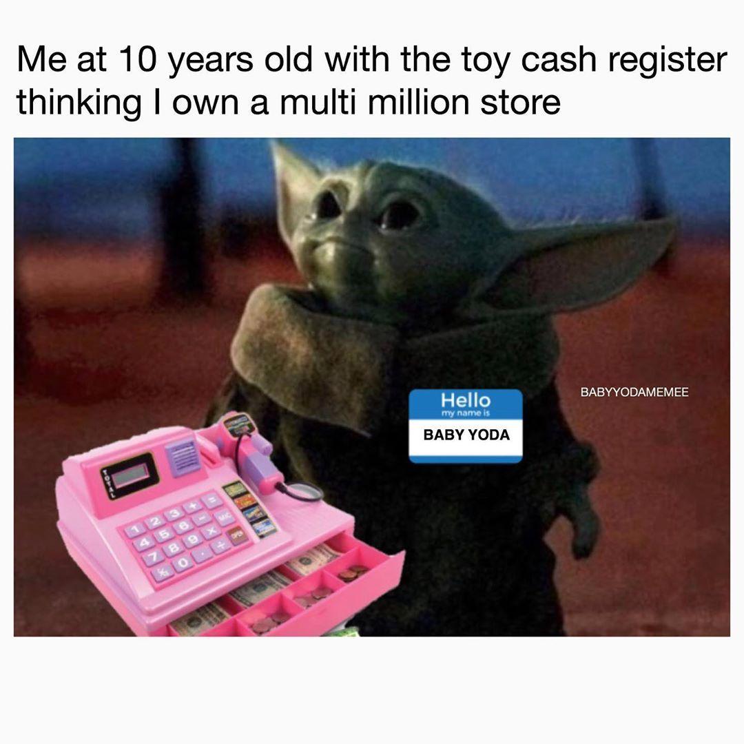 Baby Yoda On Instagram I Own This Business Follow Babyyodamemee For More Babyyoda Babyyodamemes Starwars Sta In 2020 Star Wars Memes Yoda Meme Yoda