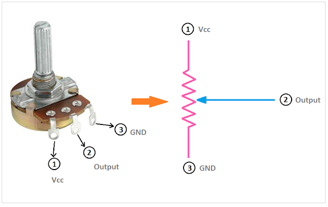 Potentiometer Circuit Circuit Diagram Circuit Electronics Basics